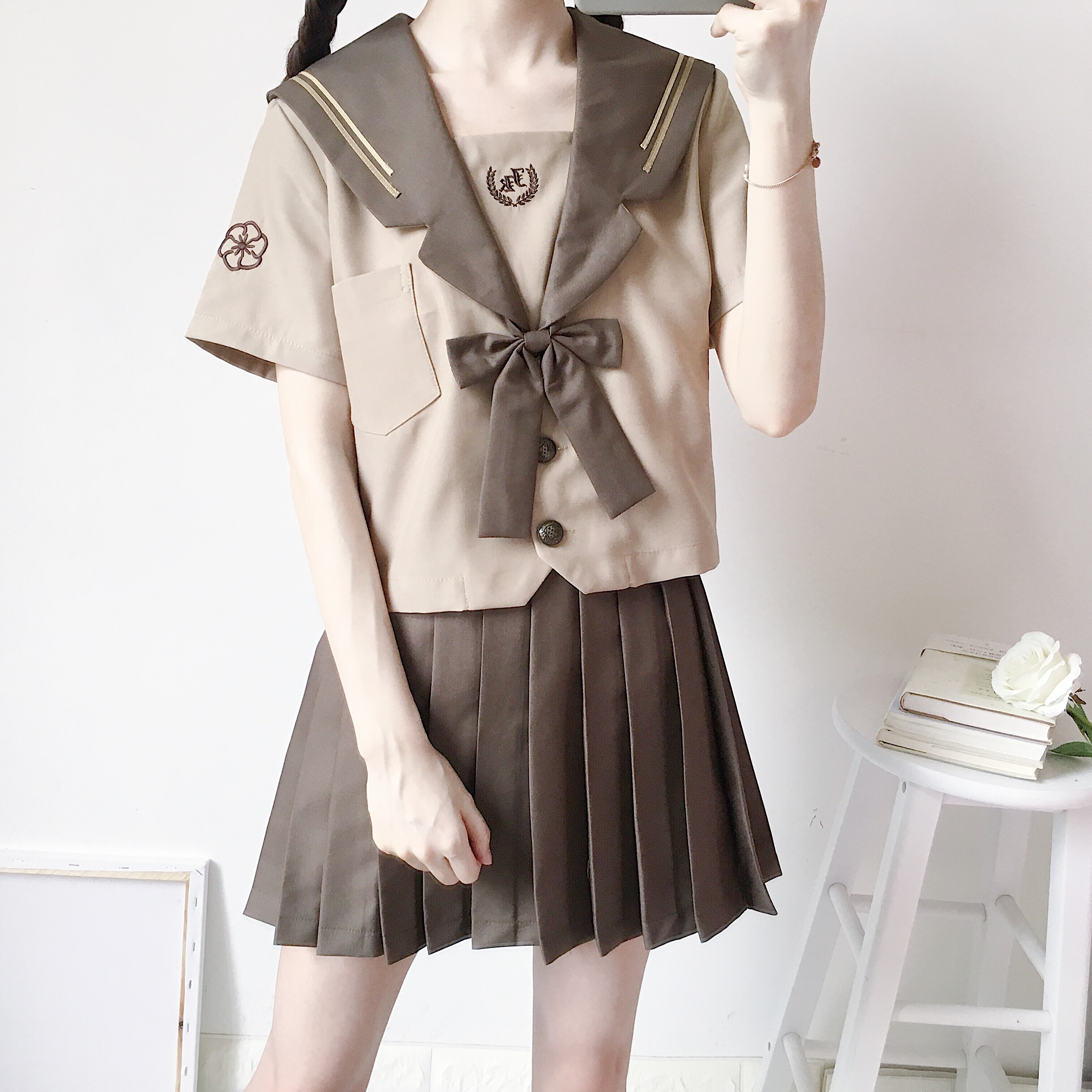 Japanese Uniforms Navy Sailor Suit For Women Kansai Students Long Sleeve Costume School Uniform For Girls