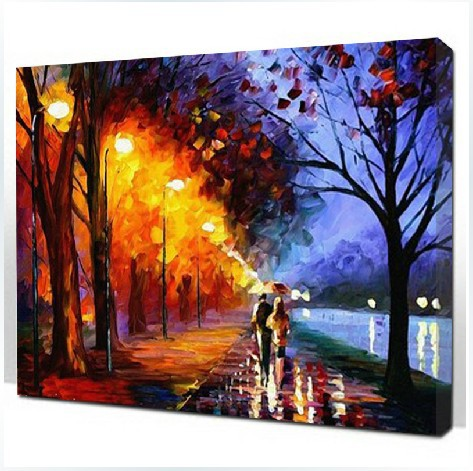The Best Pictures DIY Digital Oil Painting Paint By Number Christmas Birthday Unique Gift 40x50cm Couple