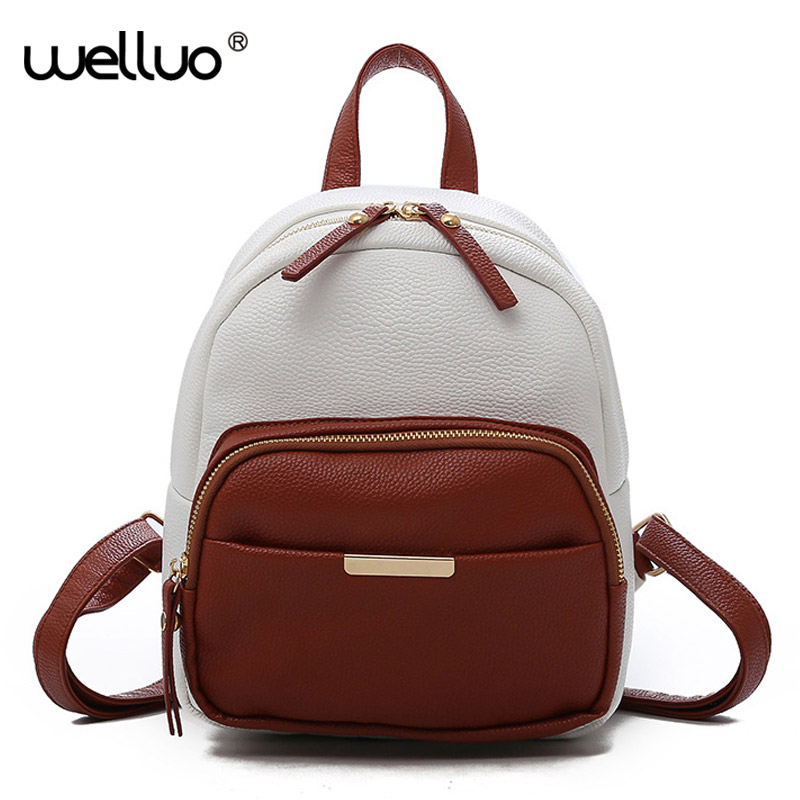 Women Backpack For Teenage Girls School Bags Shoulder Bags Female Leather Small Backpack Lady Back Pack Sac a Dos 2018 XA405WB ...