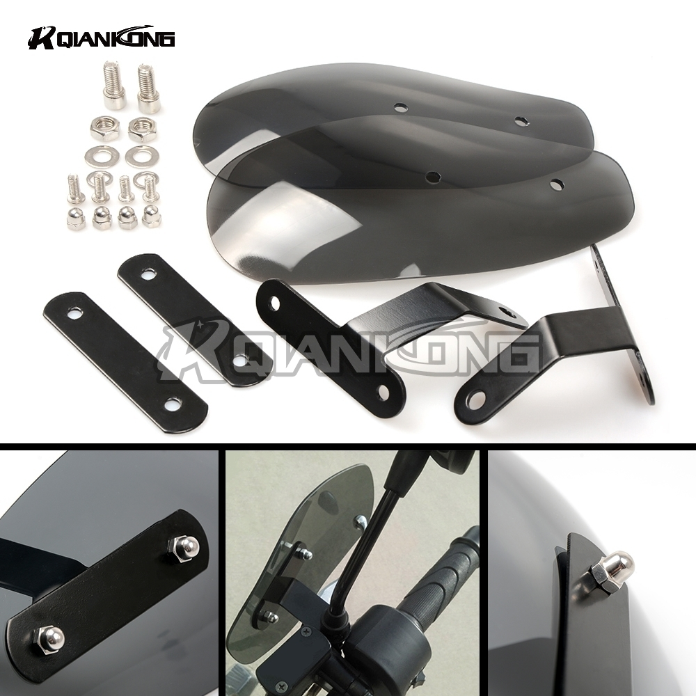 R QIANKONG Windshield Hand Guards Protector Cold Wind Deflector Shield For Honda CB599 919 400 CB600 HORNET CBR 600 F2 F3 F4I atv motorcycle wind shield handle hand guards motocross transparent handguards for honda cbf600 sa cbf1000 a cb1100 gio nc750