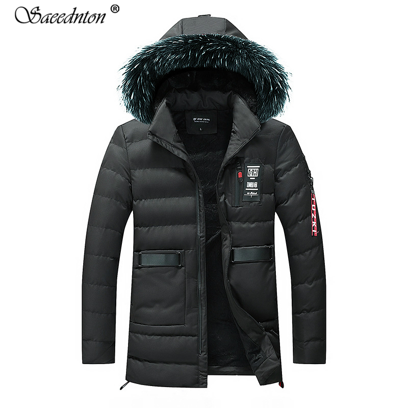 New Fashion 2019 Men's Winter Jacket -30 Degree Snow Outwear Men Warmth Thermal Hooded Snow Coats Male Solid Down Coats M-3xl