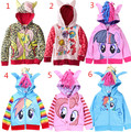Free Shipping 2015 fashion my little pony baby girls jackets children hoodies sweatshirt cute outerwear kids coat cotton clothes