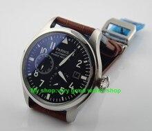 47 мм Парнис Big Pilot Самовзводные движение кожаный ремешок мужские часы высокого качества Механические часы оптовая продажа
