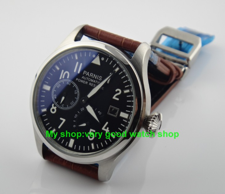 47 mm PARNIS big pilot Automatic Self-Wind movement leather strap men watches high-quality Mechanical Wristwatches wholesale47 mm PARNIS big pilot Automatic Self-Wind movement leather strap men watches high-quality Mechanical Wristwatches wholesale