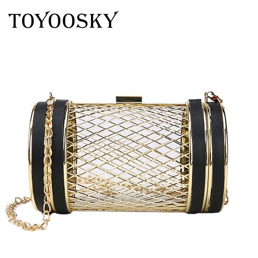 4291274459c7 TOYOOSKY дизайн моды личности полые металлические клетки вечерние клатч  вечерняя сумочка; BS010 Для женщин сумка