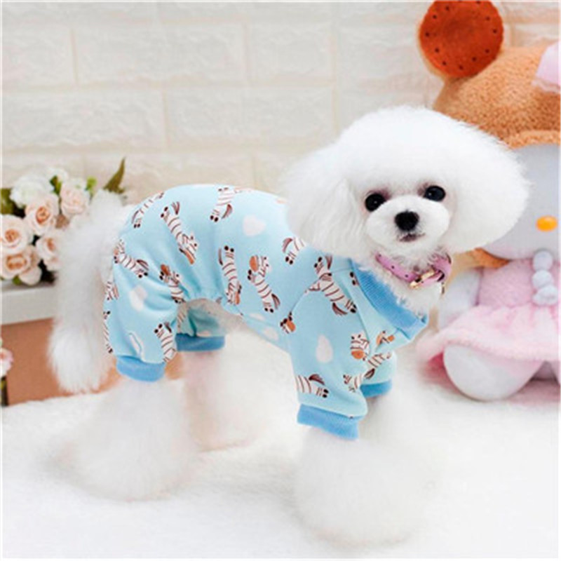 Jumpsuits & Rompers Pet Dog Winter Clothes With Cap Puppy Cotton Pajamas Jumpsuit Costume Pet Clothing Pajamas Perro Four-legged Pet Rompers