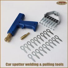 Spot dent puller kit lift pull aluminum repair work station car spotter stud welder spot welding dents removal pulling
