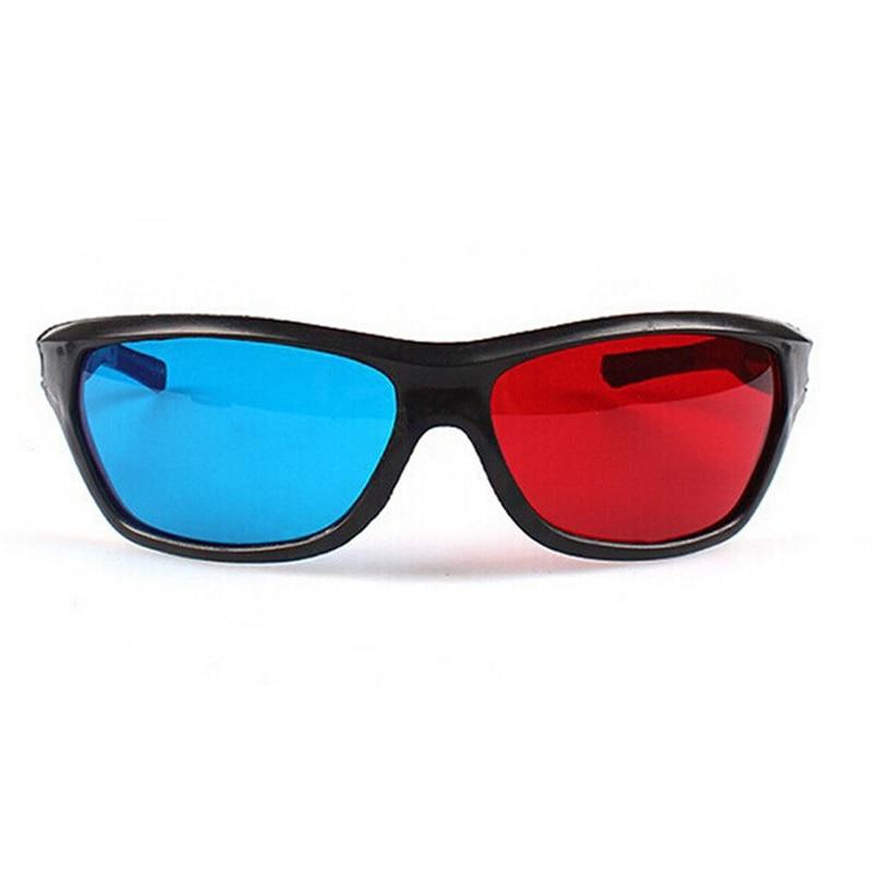 Universal Gafas 3D Marco Negro Rojo Azul 3D Visoin Vidrio para DVD ...