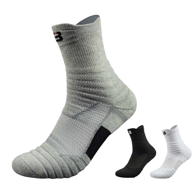 1a4ea416072 Detail Feedback Questions about Professional Men Sports Socks Knee High  Breathable Thicken Basketball Socks High Quality Outdoors Hiking Badminton  Socks 39 ...