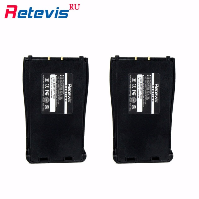 2pcs Original 1500mAh Li-ion Battery 3.7V For Walkie Talkie Retevis H777 H-777 For Baofeng Battery 888S Bf-888s Local Shipping