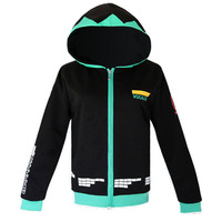 2016 New Fashion Anime Hatsune Miku Hoody Autumn Spring Coat Cotton Casual Hoodies Hot Sale