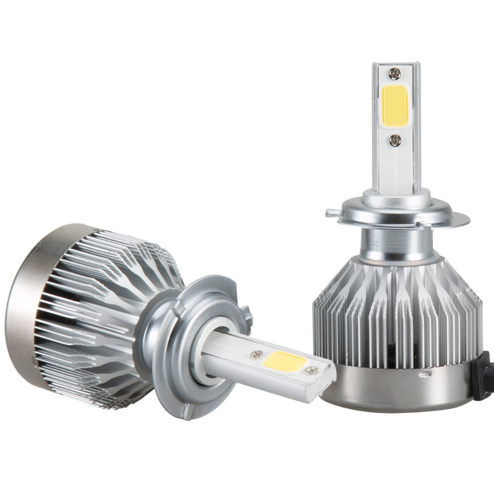 2x H7 LED Light Headlight Vehicle Car Hi/Lo Beam Bulb Kit 6000k 60W 6000LM Car Accessories 18Jan29