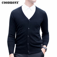 COODRONY Merino Wool Sweater Men Autumn Winter Warm Knitted Cashmere Sweaters Masculino Classic Casual V Neck