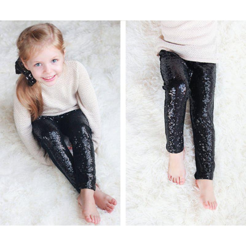 fd5eb07892636 Handmade Girl's black Pants,Boutique Sequin Pants,Children's Clothing,Gold  or Silver Sparkle leggings,glitter sequin leggings