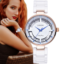цена на 2018 New Fashion Hollow Dial Women Watches Luxury Ceramic Quartz Watch Casual Ladies Wristwatch Relojes Mujer Montre Femme