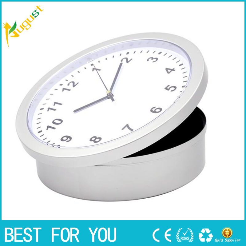 10pcs/lot Novelty Wall Clock Diversion Secret Stash Money Cash Jewelry Lock case pill box storage as christmas gift caja