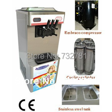 EMBRACO compressor soft serve ice cream machine on