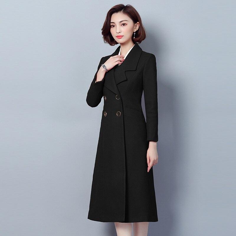 Coréenne Femme Laine Manteau Coupe Harajuku Couleur Femmes De 2 Et Printemps Solide 1 Vêtements Plus 2019 Manteaux Nouvelle La Taille Hiver vent cAjL534qSR