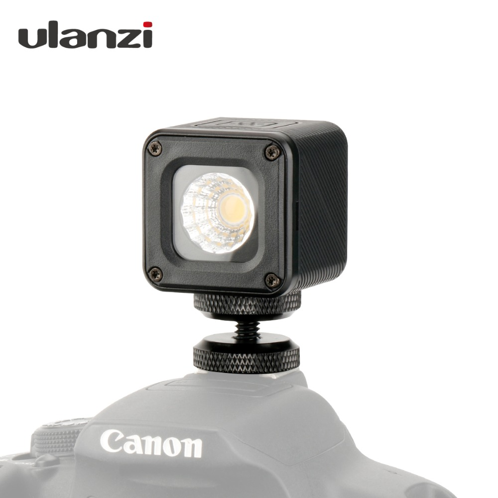 Ulanzi L1 Waterproof Adjustable LED Video Light On Camera Studio Versatile Light for Canon Nikon Camp Light for Gopro 6 5 Dji notes on camp