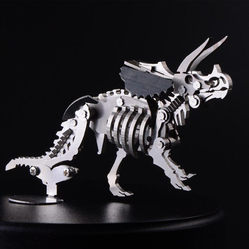 Haute qualité modèle 3D créatif détachable Triceratops produit fini pas d'assemblage jouets Collection ameublement bureau