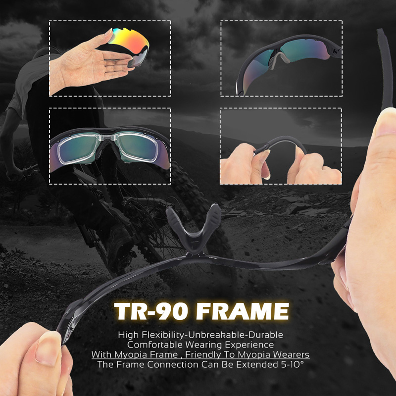 7f7caf02cbb VICTGOAL Polarized Cycling Glasses UV400 Outdoor Sport Men Women Running  Cycling Sunglasses Mountain Bike Eyewear 5 Lens Goggles-in Cycling Eyewear  from ...