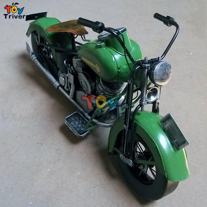 ФОТО Home Office shop Decor handmade vintage craft iron1969 Indian Harley motocycle car model boyfriend Valentine's gift toy