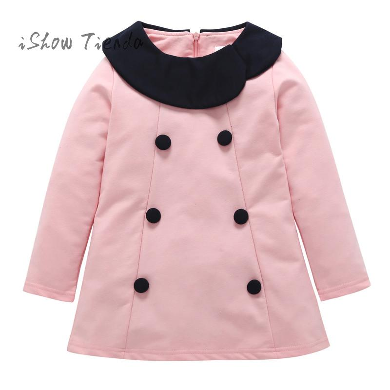 Toddler Infant newborn Baby Girl dress Warm Botton Bowknot Solid winter Dress Outfit children Clothing kid suit new Year costume infant boys girls newborn winter autumn clothing cute fancy dress toddler costumes onesie novelty outfit baby animal romper