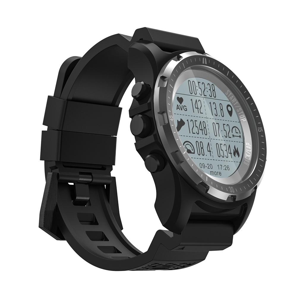 S966 GPS montre intelligente étanche Smartwatch moniteur de fréquence cardiaque température multi-sport hommes boussole course sport montre pour xiaomi