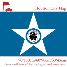 Free shipping 60*90cm 90*150cm Flag 3x5ft Digital Print Houston City Flag 30*45cm Car Flag For Vote Event free shipping little canada city flag 3x5ft banners with brass metal holes 30 45cm car flag 90 150cm 60 90cm flag for vote event