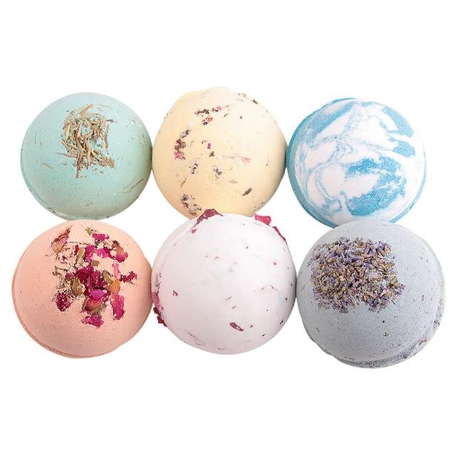 Sea Salt Bath Ball Rose Green Tea Lavender Lemon Milk Essential Oil Bubble Bomb Gift 88 2