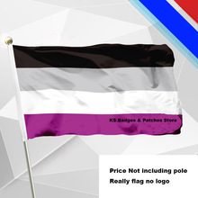 Asexual Pride Flags 14*21CM with Plastic Hand Held