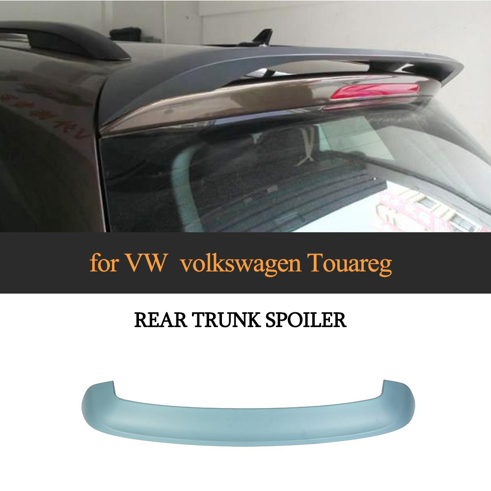 Car Styling ABS Matte Black Rear Trunk Roof Spoiler Wing Lip for VW Volkswagon Touareg 2011 - 2017Car Styling ABS Matte Black Rear Trunk Roof Spoiler Wing Lip for VW Volkswagon Touareg 2011 - 2017