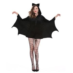 Image 2 - Batman Costumes Adult Sexy Women Dress Carnival Disfraz Mujer Halloween Costume for Women Fancy Party Dress Cosplay Nightclub