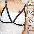 90's Sexy CropTop Gótico Cuerpo Jaula Bondage Pecho Abierto Sujetador Desgaste Fetiche BDSM Bondage Lencería Erótica Arnés Sujetador O0082