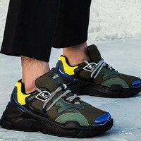 Sport shoes Men Designer mesh Wedges Sneakers Men Thick bottom Rubber Vulcanized shoes running shoes for men zapatillas hombre