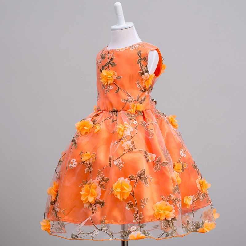 Floral Vestido da menina Roupa Dos Miúdos Roupas 2019 Meninas de Verão para a Festa de Vestido Infantil Crianças Criança Vestido 2 3 4 5 7 6 8 9 10 anos