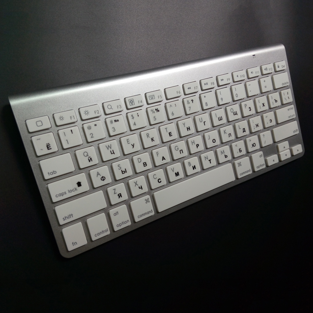 Bluetooth Keyboard Apple Android: Russian Ultra Slim Bluetooth Keyboard Tablets And Smartphones Wireless Keyboard For Apple