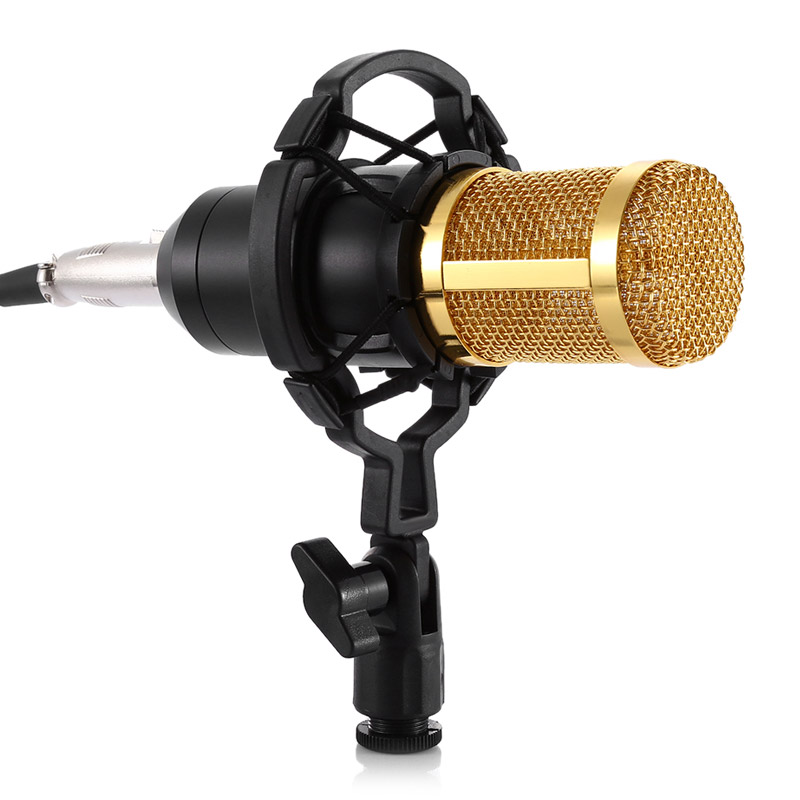 For Bm 800 Microphone 48V Phantom Power With Adapter/XLR Audio Cable/Adjustable Microphone Stand/Microphone Filter Microfone