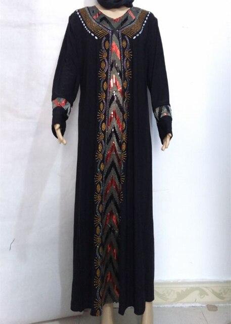 26b0ff25b28d2 لباس الصلاة مسلم ماكسي ليكرا الجلباب العباءة طويلة الأكمام الإسلامية  الملابس التقليدية التركية الجلباب