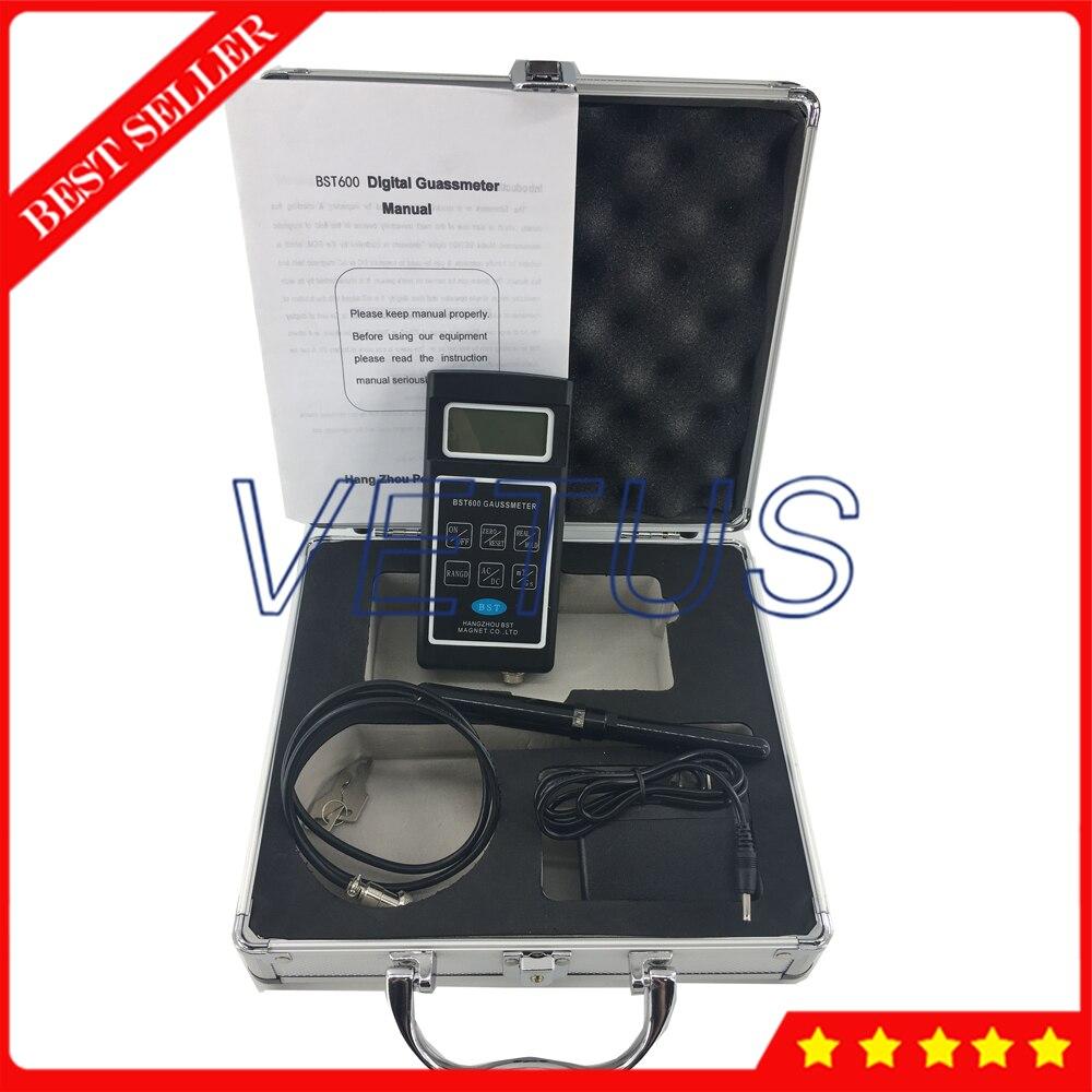 BST600 0~200mT~2000mT Range Digital Gaussmeter/Teslameter with AC / DC magnetic field gauss meter measurement