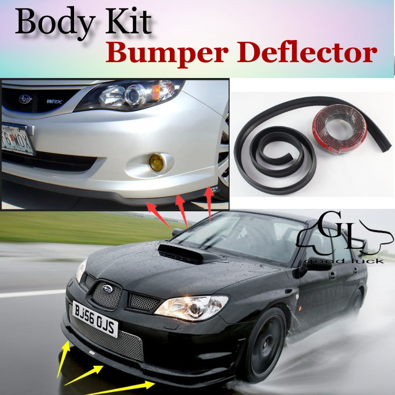 Bumper Lip Deflector Lips For <font><b>Subaru</b></font> Impreza <font><b>WRX</b></font> <font><b>STi</b></font> XV Front Spoiler Skirt For TopGear Friends Car Tuning / Body Kit / Strip image