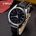 Marca de lujo de Reloj de Cuarzo para Los Hombres de Negocios Relojes Militares Impermeable Reloj Correa de Cuero Reloj de pulsera para hombres relogio