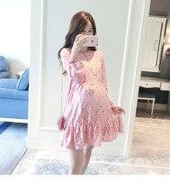 BAHEMAMI 2017 Suit Dress Korean Autumn New Pattern Pregnant Woman Dress Long Sleeve Lace Pregnant Woman