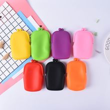 1PCS coin wallet silicone bag Mobile Storage purse women handbag Rubber Silicone Cosmetic Makeup Bag Coin Purse Fashion Wallet(China)