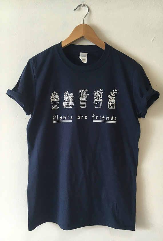 Hillbilly Baru Fashion Pria & Wanita Pakaian Tanaman Teman Gaya Sederhana Pot Tanaman Dicetak T Shirt Jalan Santai t-shirt