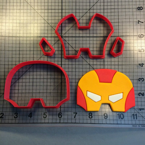 Super Hero Masks Cookie Cutter Set Custom Made 3D Printed Fondant Cupcake Top Molds Cake Decoration Tools in Cookie Tools from Home Garden