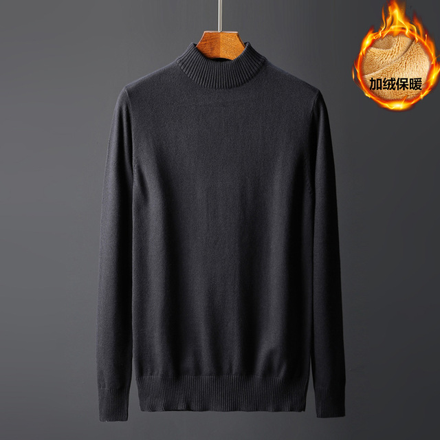 d026c5e0d4a86f 2018 Fashion Men s Winter Sweaters Plus velvet thickening Pullovers Male  Wool Pullover Knitted Casual Thermal Pull Homme Sweater