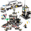 Model Building Kits Compatible With Lego City Street Police Station Car Truck Bricks Educational Toys For