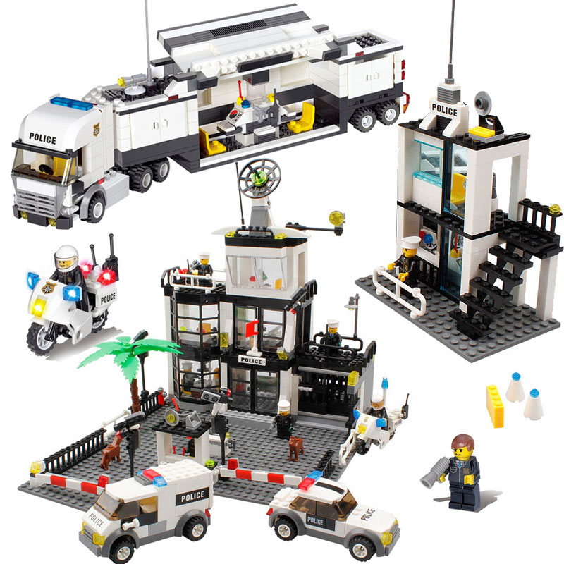 Model Building Kits Compatible With Lego City Street Police Station Car Truck Bricks Educational Toys For Children Gift 965pcs city police station model building blocks 02020 assemble bricks children toys movie construction set compatible with lego