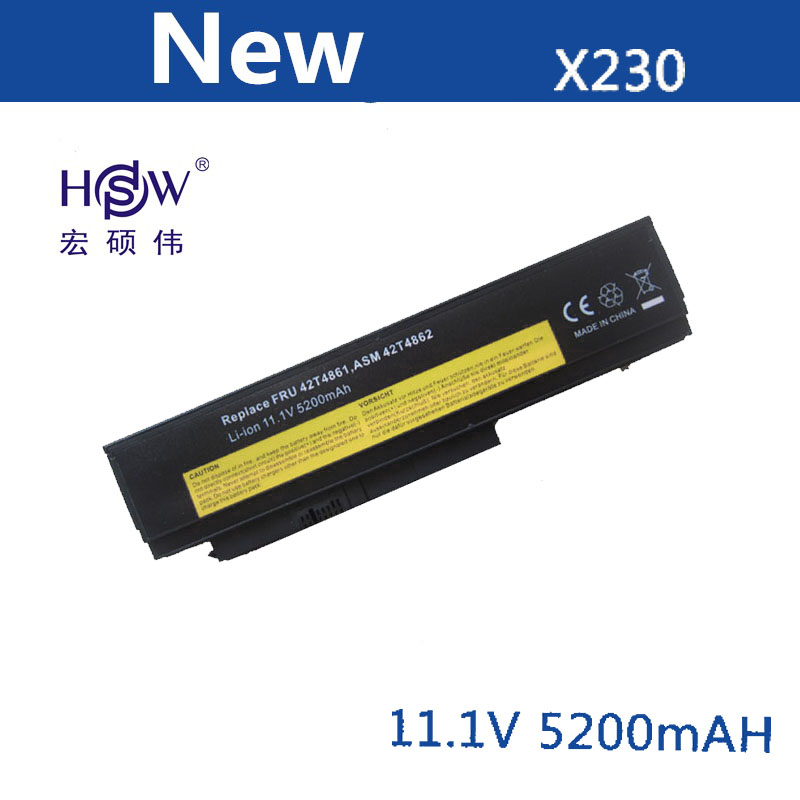 HSW Laptop Battery For Lenovo Thinkpad X230 X230I Batteries 0A36281 0A36282 42T4863 42Y4834 0A36283 45N1023 45N1022 Battery
